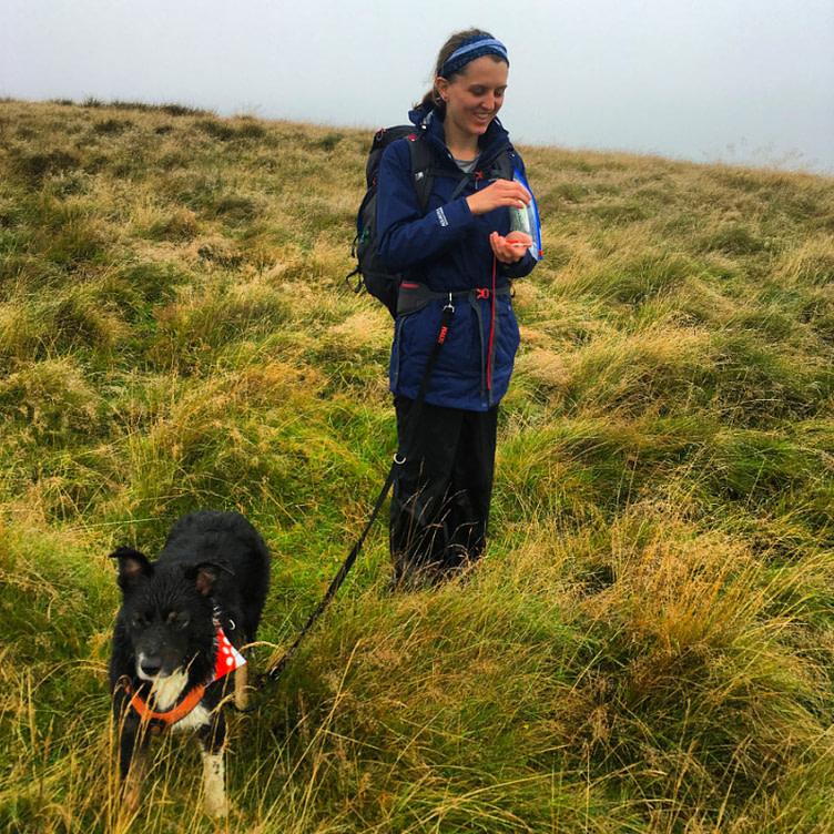 Woman Navigating with dog